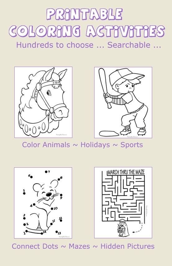 coloring pages printable activities fun and learning for kids - Fun Printable Activities For Kids