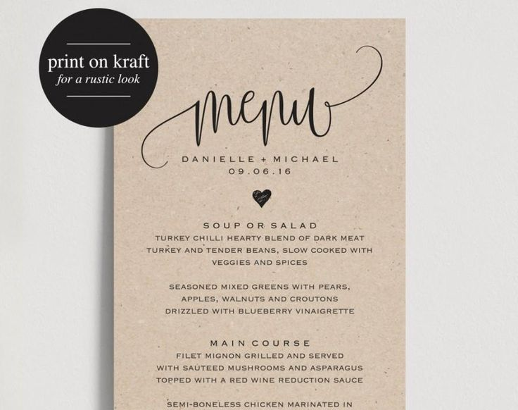 Best  Menu Pdf Ideas On   Black Weddings Free Menu