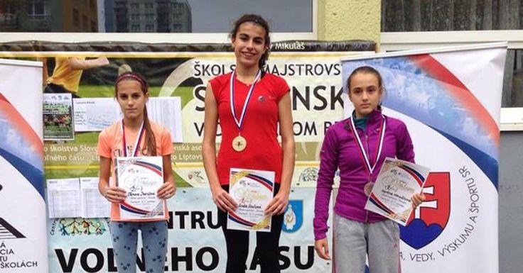 Na trati 2 km cezpoľného behu v kategórii žiačky základných škôl Tamara Ivančová obsadila skvelé 2. miesto!