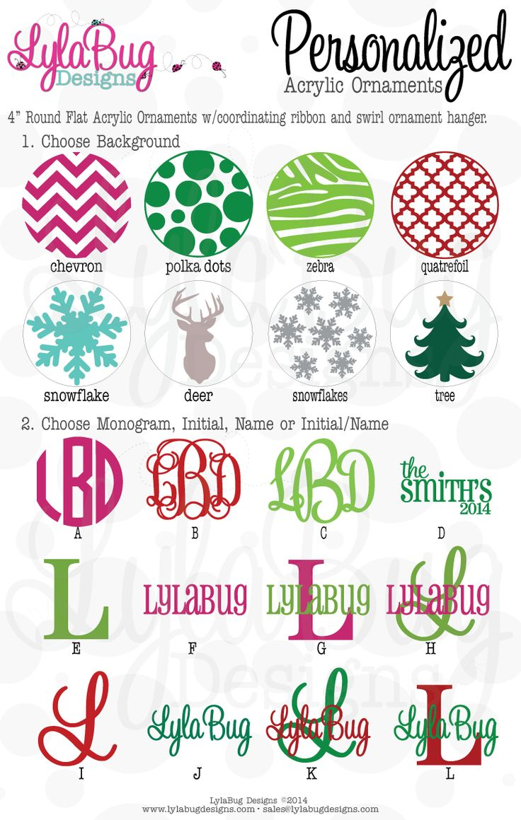 Blank ornaments to personalize - Custom Personalized Acrylic Christmas Ornaments