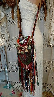 WOW! Handmade Ibiza Festival Bag Gypsy Hippie Boho Jewelry Fringe Purse tmyers