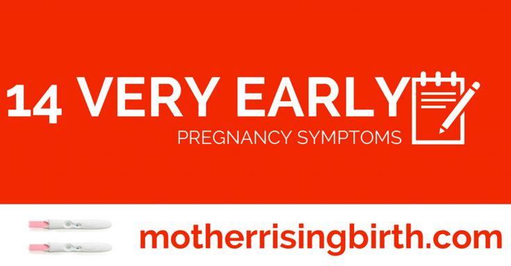 14 very early pregnancy symptoms...