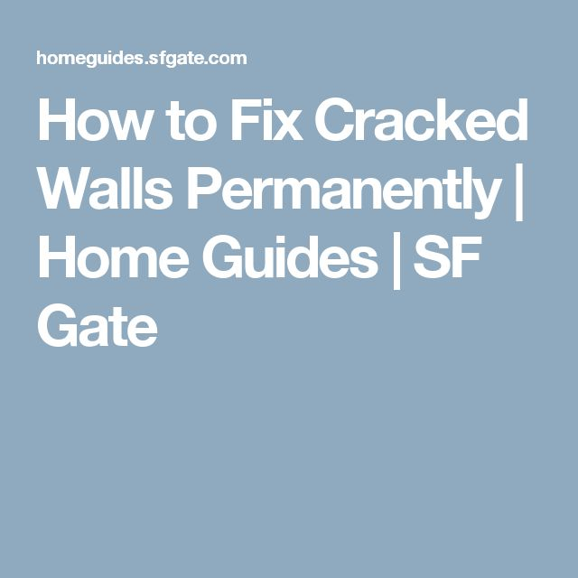 How to Fix Cracked Walls Permanently | Home Guides | SF Gate