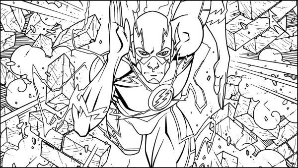 The Flash Coloring Pages Collection Coloring Books Superhero Coloring Pages Monster Coloring Pages