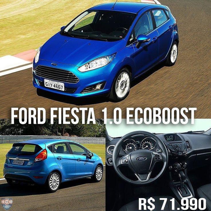 Ford New Fiesta 1.0 Titanium Plus EcoBoost 2017 Isso mesmo: agora o Brasil tem um carro 1.0 que custa R$ 71.990. É o destaque da linha 2017 do Ford Fiesta. Mas antes de torcer o nariz bom lembrar que é o 1.0 turbo três cilindros de 125 cv e 170 Nm de torque agora o motor mais potente dessa cilindrada no Brasil. Segundo a Ford faz 122 km/l na cidade e 153 km/l na estrada. O câmbio é automático de dupla embreagem Powershift. A aceleração de 0 a 100 km/h é de 93. Ou seja um 1.0 que anda mais…
