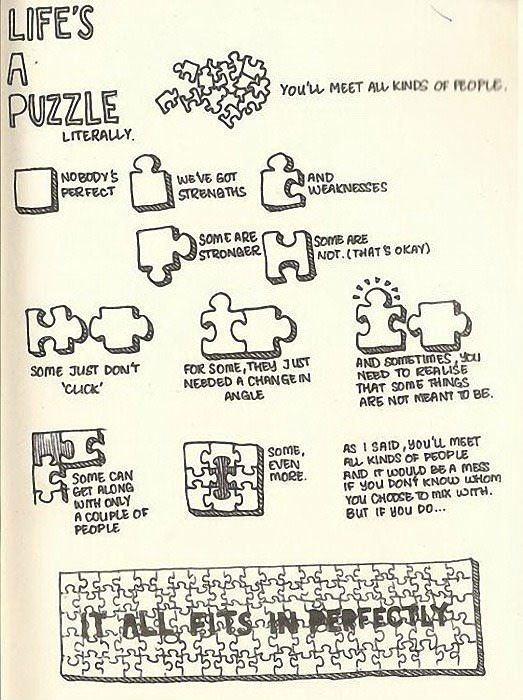 Life is a Puzzle: Puzzles Pieces, Stuff, Quotes, Life Lessons, Wisdom, Random, So True, Living, Human Puzzles