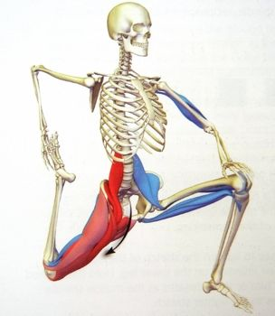 Psoas stretch for lower back pain relief...better if arms are raised straight up above the head, gives a deeper psoas stretch.