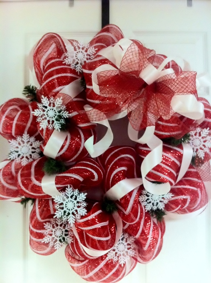 Christmas red and white