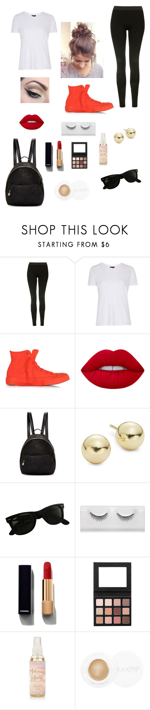 """""""Wham Bam music festival"""" by sarahbear231 on Polyvore featuring Topshop, Converse, Lime Crime, Mehron, STELLA McCARTNEY, Lord & Taylor, Ray-Ban and Chanel"""