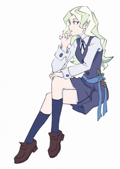 Diana Cavendish, Akko's senior of their class. She plays the know it all very well but behind that mask lies someone sweet.