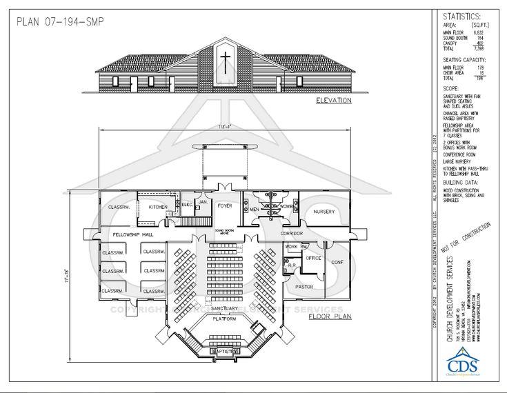 34 best Church Plans images on Pinterest | Church design ...