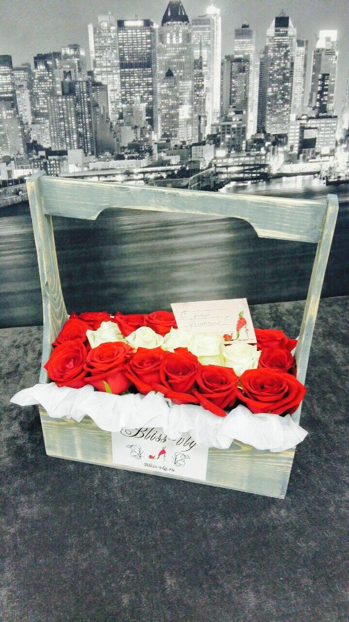 Букет Валенсия 19 роз  #flowers #bouquets #roses #Volgograd