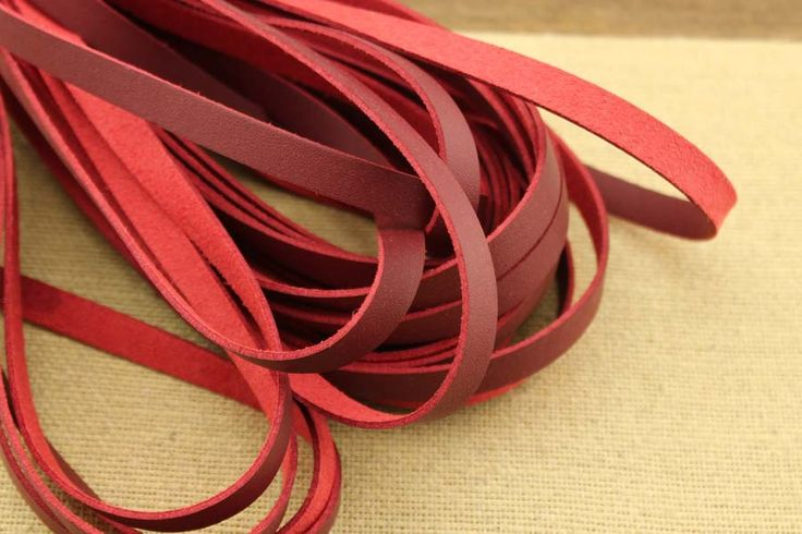 CYZ-P136 Red suede cord, high quality soft faux cord 10*1.5 mm, bracelet making supplies, red cord for bracelet, red leather cord, 10 meters by DIYArtMall on Etsy