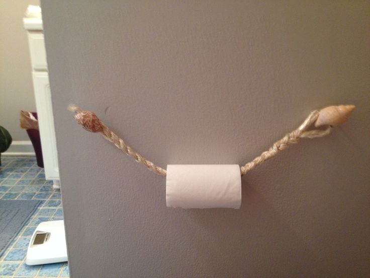 Toilet paper holder old rope from the kids play set Kids toilet paper holder