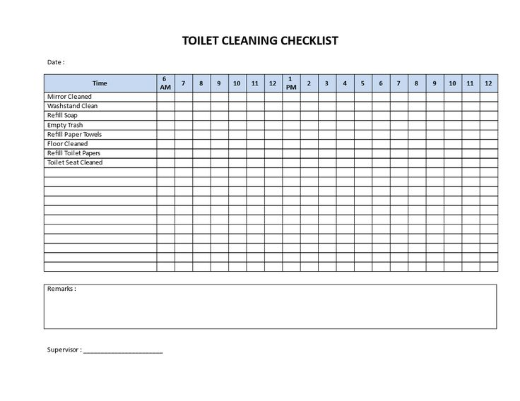 toilet cleaning checklist
