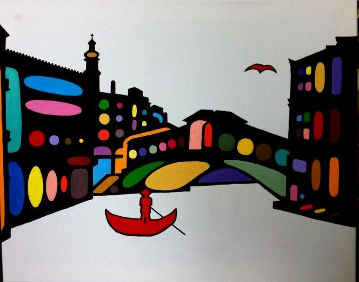 Venice. 50X40cm. Acrylic on canvas