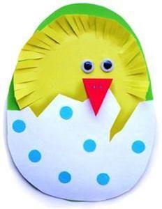 Easter crafts for preschoolers - DIY Easter card