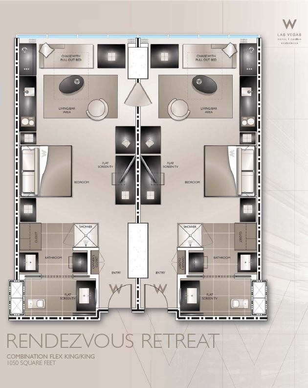 typical w hotel guestroom plans Google