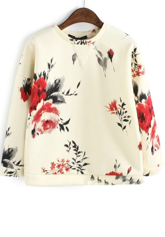 Floral Cotton Sweater