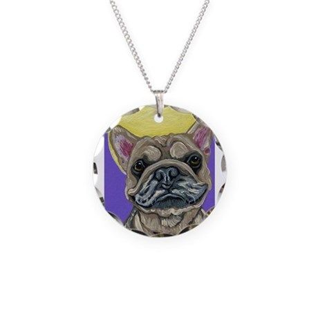 d67b5d48b0b French Bulldog Smile Necklace on CafePress.com