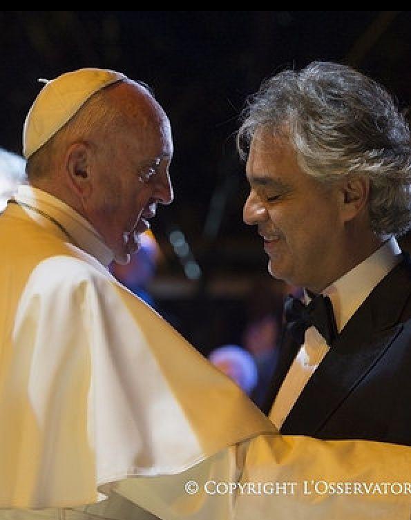 Papa Francis and Andrea Boccelli