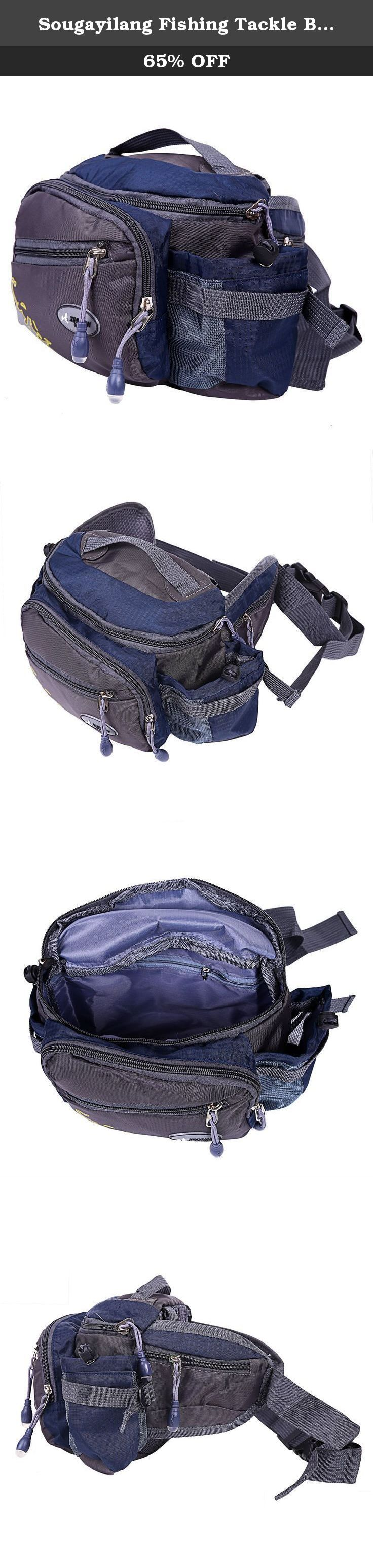 Sougayilang Fishing Tackle Bag Outdoor Waist Bags (Grey). Made of waterproof oxford cloth, good durability. Breathable mesh back, more comfortable to wear. Attached with a strap and a securing lock for wearing convenience. Well designed bag hook to connect the strap and side bag. Main compartment with zip closure. Multi-purpose usage, can hold your fishing tackles like lure pliers,fishing box, rod, etc. Package Contents: 1* Fishing Bag.
