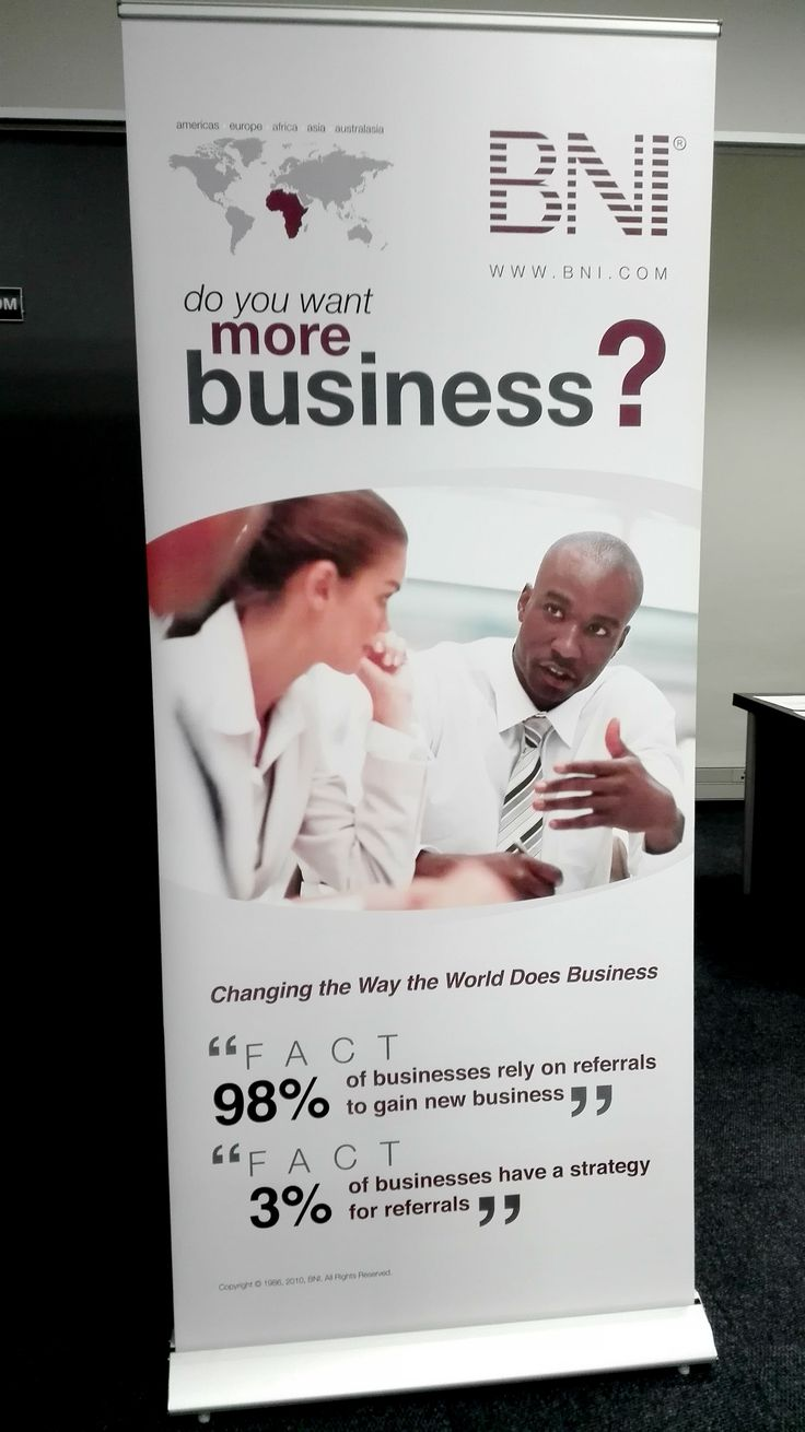 Delux pull up banner with executive base.