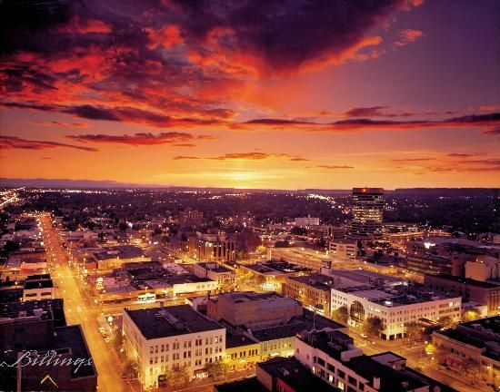 Look At That Beautiful Sunset Billings Montana Looking For A Good Place To Vacation