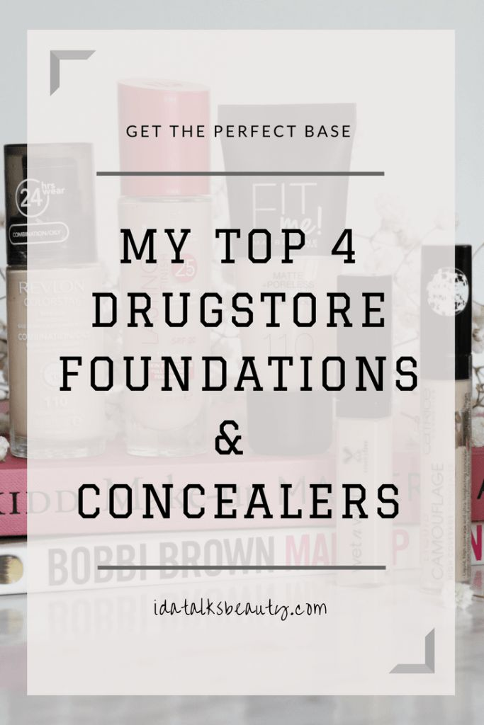 Best Drugstore foundations and concealers. My top picks for a really beautiful but inexpensive base makeup
