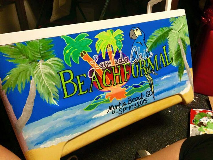lambda chi alpha ΛΧΑ LXA beach formal parrot myrtle Beach SC south Carolina cooler side