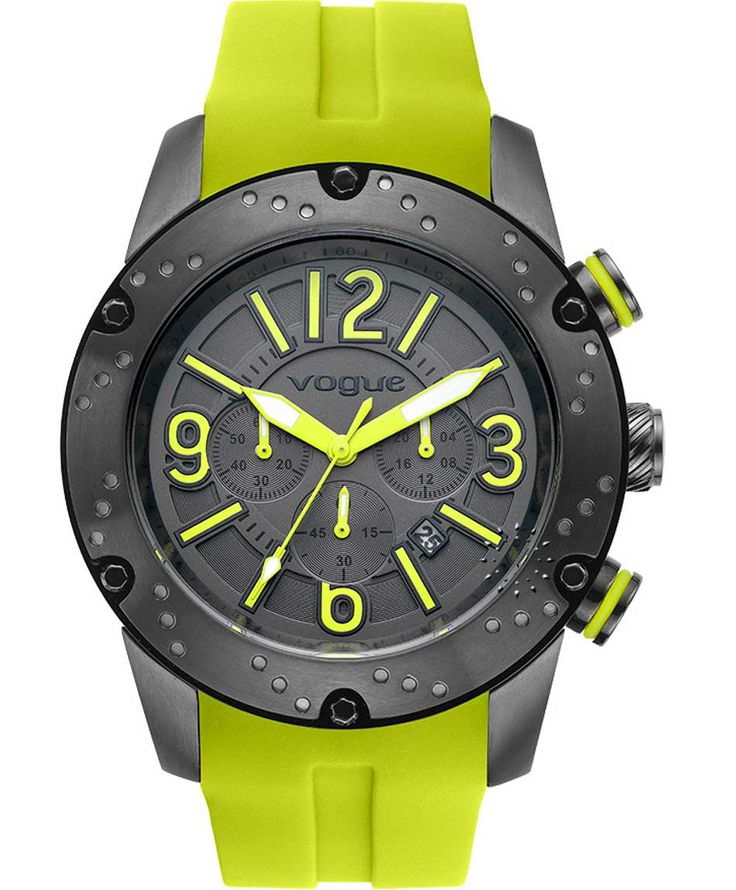 VOGUE Spirit Chrono Light Green Rubber Strap Μοντέλο: 17101.5A Τιμή: 195€ http://www.oroloi.gr/product_info.php?products_id=38464