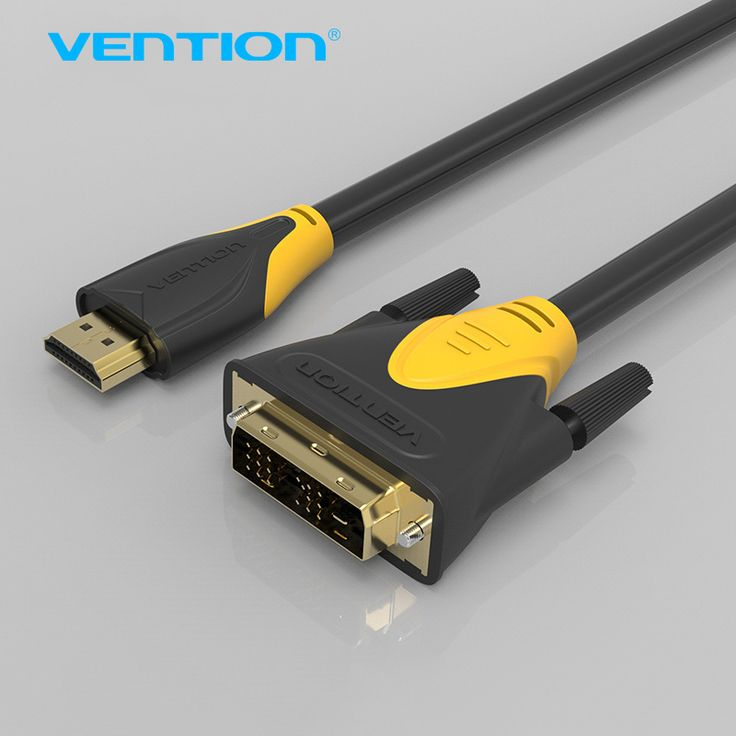 Vention HDMI to DVI Cable 1m/1.5m2m/3m/5m HDMI Male to DVI Male 18+1 Pin Cable Adapter Support 1080P 3D for HDTV Projectors PC