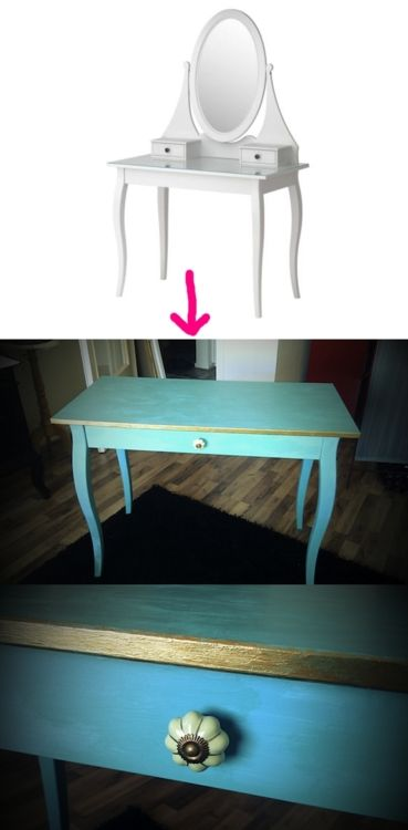 Hemnes dressing table diy hack bedroom pinterest for Ikea hemnes vanity table