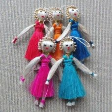 These beautiful jute Angels are made in Bangladesh using natural materials. This wonderful addition to your ceremonial collection can be used anytime you need extra support. Ask your angel of choice for help when life is difficult or when you want to get things done. Angels are Jewish and Christian in origin and seen as messengers and helpers assisting the faithful. Fair Trade. Width: 5cm. Length: 10cm. $12.00au.