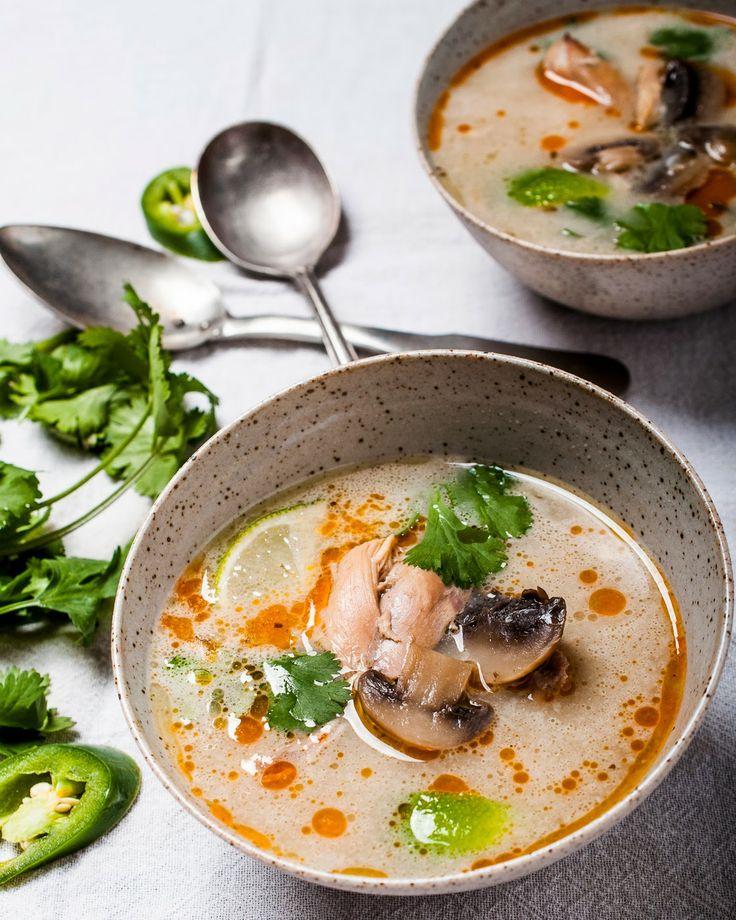 Spicy Thai Coconut Soup (Tom Kha Gai)