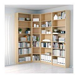 IKEA - BILLY, Bücherregal, braun Eschenfurnier, 215/135x237x28 cm, , Versetzbare Einlegeböden.Oberfläche aus Echtholzfurnier.Mit Eckregalen lässt sich jeder Zentimeter im Raum nutzen.Mit einem Aufsatzregal wird die Wandfläche optimal ausgenutzt und gleichzeitig wird Bodenfläche frei.