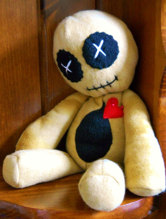 Brown 15 plush Voodoo doll  OOAK  Shelf Sitter by GhoulieDollies, $25.00