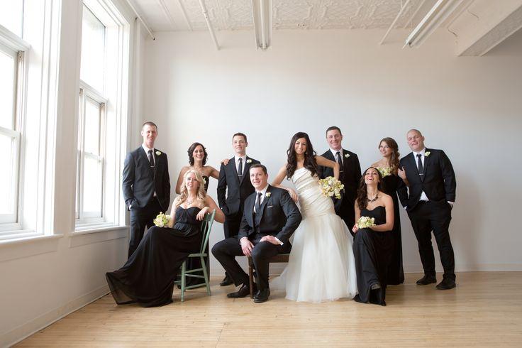 Bride: David's Bridal || Bridesmaids: Dessy After Six || Hair: @stephdrempel || Flowers: @facheflorals || Groomsmen: Eph Apparel || Photo: @amarie_photo ||