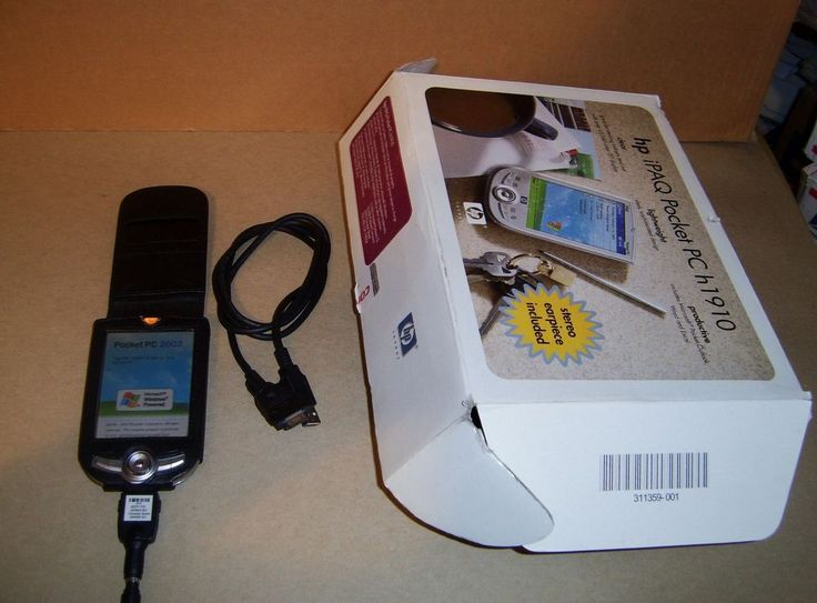 HP IPAQ H1910 Bundle AC Adapter/USB Sync Cable/Leather Case No CD #HP