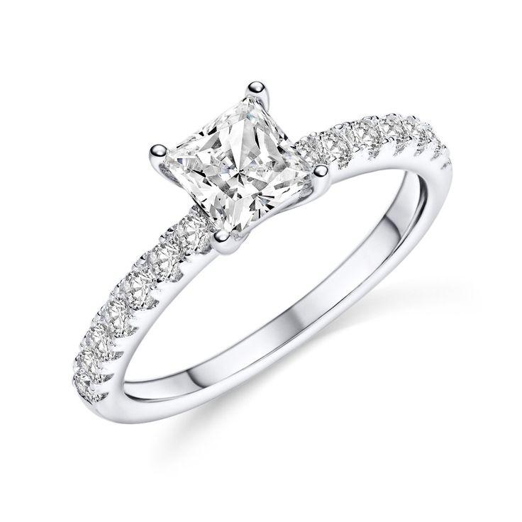 Verlobungsring | Silber 925 | Zirkonia - Facettenschliff