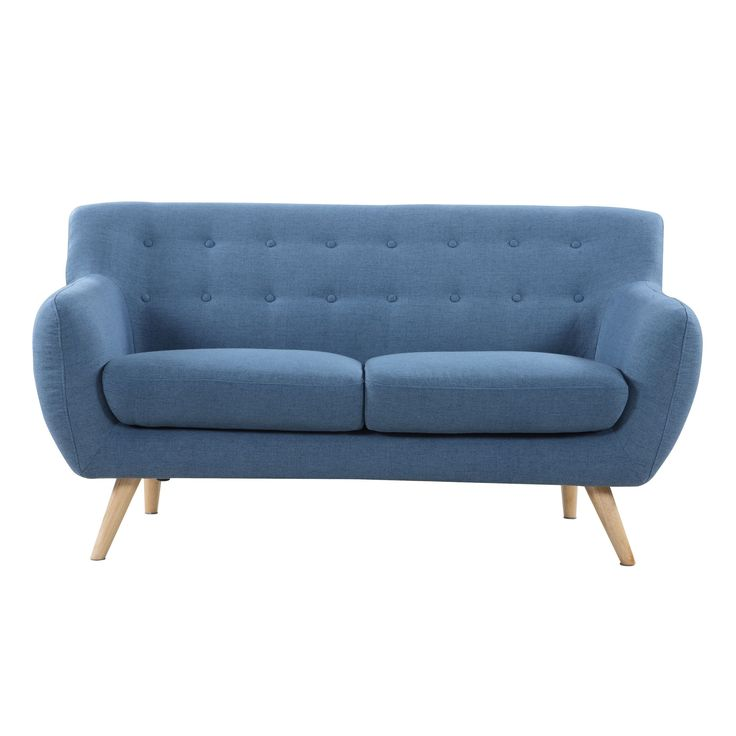 Madison Mid Century Modern Love Seat Living Room Furniture - Assorted Colors