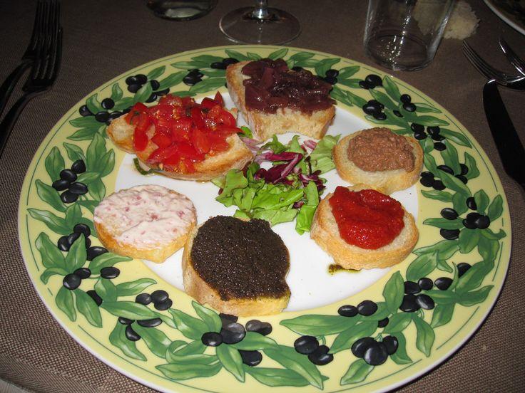 Typische Toscaanse crostini