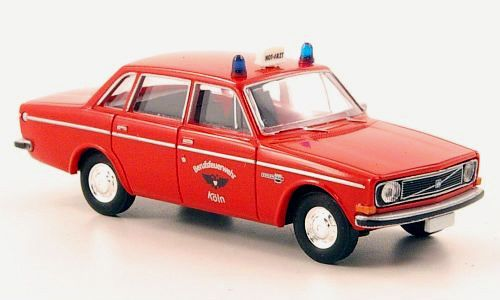 "wonderful German modelcar VOLVO 144 ""NOTARZT"" 1972 - red - HO-scale 1/87 #BREKINA #VOLVO"