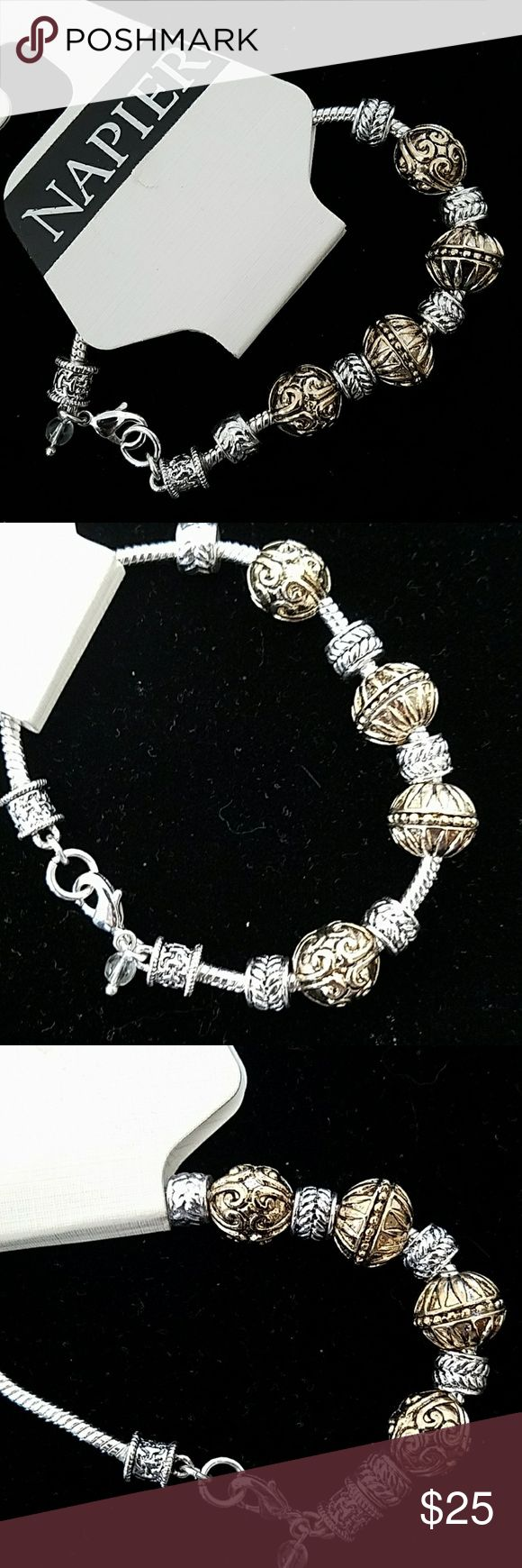 Napier Bracelet Beautiful brand new with tag Napier Bracelet. Gold and silver tone. Napier Jewelry Bracelets