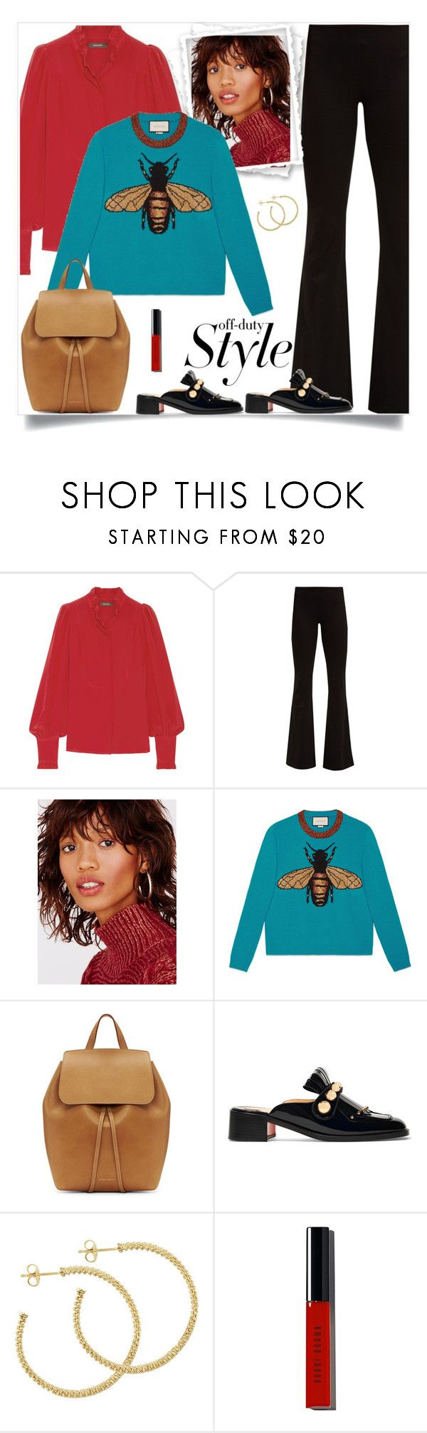 """""""."""" by fashionmonkey1 ❤ liked on Polyvore featuring Isabel Marant, Galvan, Free People, Gucci, Mansur Gavriel, Christian Louboutin, Lagos and Bobbi Brown Cosmetics"""