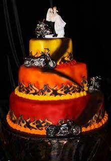 Marvelous Biker Wedding Cake!