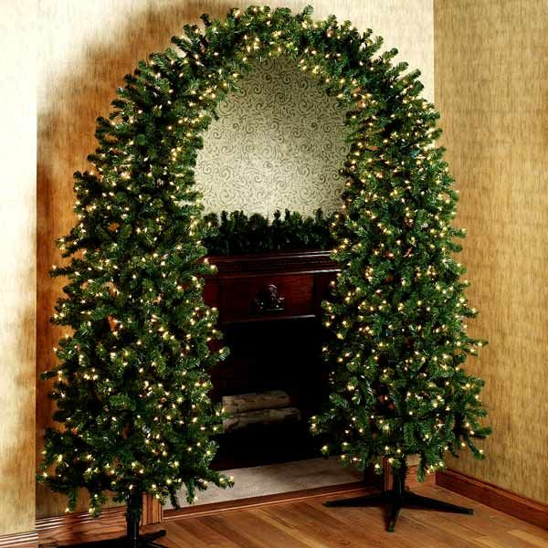 pre lit christmas tree arch looks like a dr - Clearance Christmas Trees