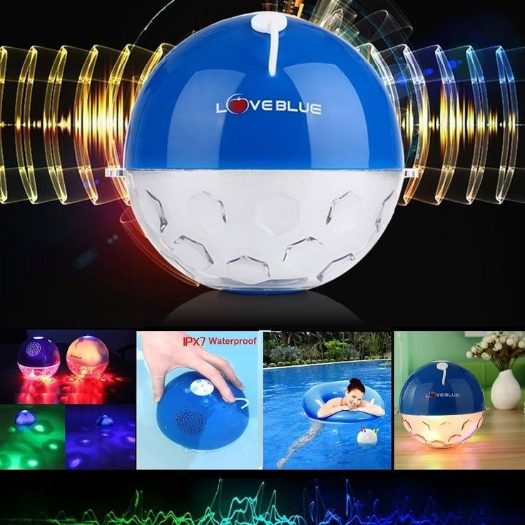 IPX7 Water-proof Floating LED Light Bluetooth Speaker Music/Call with Micphone