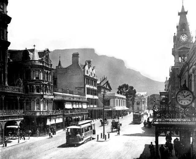 Adderley Street Cape Town looking towards Table Mountain 1898 | Flickr - Photo Sharing!