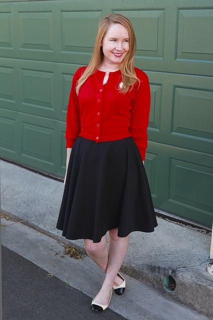 Day 17 Me Made May - Self-drafted Black Circle Skirt {via Jennifer Lauren Vintage}